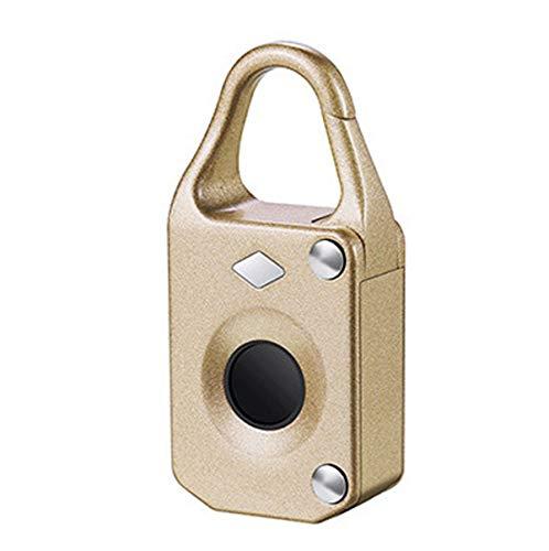 JX-PEP Fingerabdruck-Verschluss-Vorhängeschloss, intelligente bewegliche USB-Lade Sicherheit Vorhängeschloss für Sport, Schule & Mitarbeiter Locker, Koffer, Rucksack, Golftasche, Gepäck,Rosa