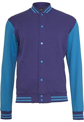 Preisvergleich Produktbild Urban Classics 2-tone College Sweatjacket (2) TB207,  Farbe:purple / tur;Größe:S