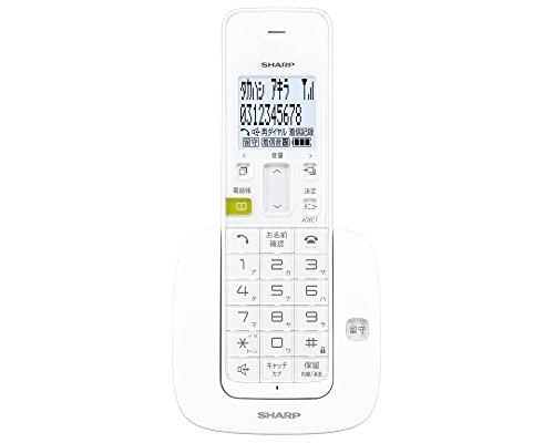 シャープ デジタルコードレス留守番電話機 子機 1.9GHz DECT準拠方式 ホワイト系 JD-S07CL-W