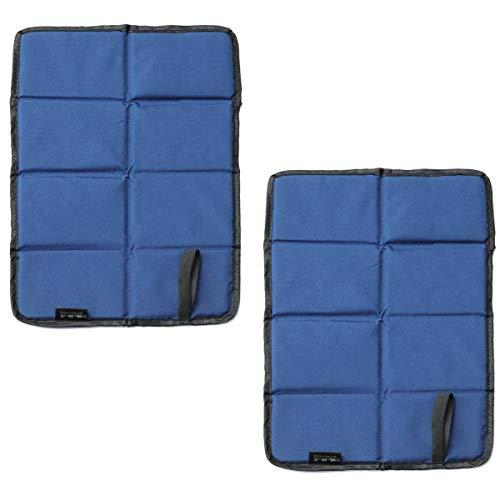 DMFSHI Faltbar Sitzkissen, Sitzmatte faltbar, 2 PCS Oxford Cloth Faltbare Sitzmatte mit Aufbewahrungstasche, Wasserdichtes Faltbares Außenkissen für das Wandern im Picknickpark (Blau)