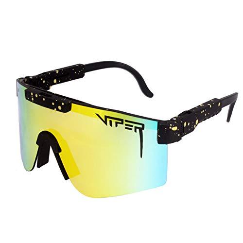 Mivyy Polarisierte Sonnenbrille, Laufen, Angeln, Golf, Radfahren, polarisierte Sonnenbrille, winddichte Sportbrille (C06)