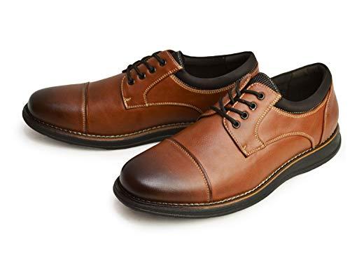 [フランコジョバンニ] スニーカー メンズ カジュアルシューズ コンフォートシューズ スリッポン サイドゴア ストレートチップ Uチップ 防水 軽量 防滑 紳士靴 靴 メンズシューズ L/BR:ストレートチップ 26.5cm