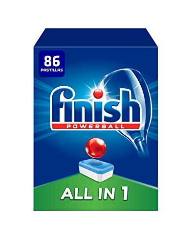 Finish Powerball All in 1 Original – Pastillas para el Lavavajillas todo en 1, Fragancia Limón, Formato 55 Unidades