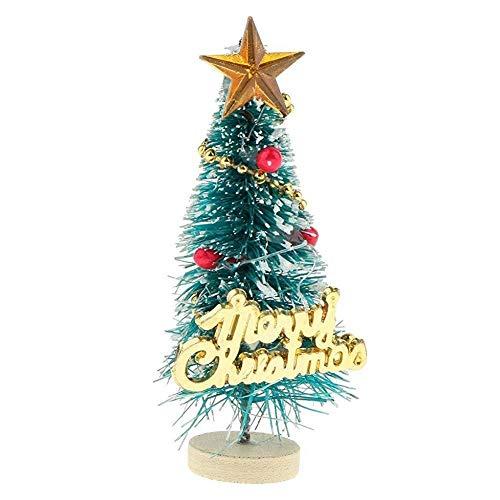 Gcroet Feliz Navidad Carta de Planchar Mini árbol de Navidad 01:12 Modelo en Miniatura de Escena para la Fiesta de Navidad y Accesorios de decoración casa de muñecas