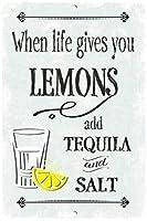 生命があなたにレモンを与えるとき ブリキ 看板 レトロ アメリカン 雑貨 ヴィンテージ風