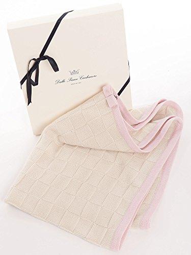 Dalle Piane Cashmere - Couverture bébé en 100% cachemire - Couleur: rose