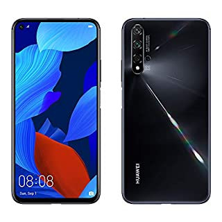 "Huawei Nova 5T 128GB 6.26"" LCD Display Smartphone with 48 MP Camera, 6GB RAM, SIM-Free Android 9.0, EMUI 9.1, Single Sim, (Black) UK Version (B07ZWHCWV2) 
