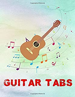 Guitar Scales For Beginners: Guitar Tab Notebook Size 8.5x11 Inch Glossy Cover Design White Paper Sheet ~ Music - Authenti...