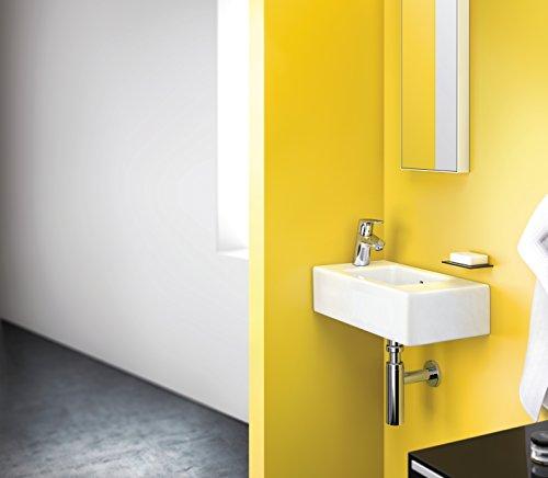 Hansgrohe – Waschtischarmatur, mit Zugstangen-Ablaufgarnitur, QuickClean, EcoSmart, Chrom, Serie Focus 70 - 4