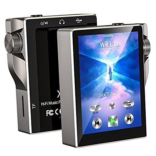 Gueray MP3-Player mit Bluetooth 16 GB und 2,4 Zoll Touchscreen MP4 Musikplayer mit Lautsprecher und Kopfhörer UKW-Radio Diktiergerät Video E-Book Unterstützt bis zu 64 GB TF-Speicherkarte