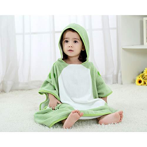 Maternal and child-G.TZ Serviettes De Bain À Capuchon pour Bébé, Coton Doux avec Serviette, Peignoir Unisexe pour Tout-Petit 0-6T, Vert