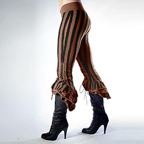 Pantalones para Mujer Cosplay Disfraz Medieval Gtico Steampunk Vikingo Pirate Pantalones Halloween Traje Sexy Mujeres Retro Pantalones Traje