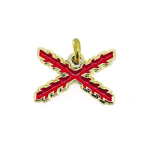 Gemelolandia Colgante Aspa de Borgoña Cruz de San Andres | Collar Casual Para hombres y Mujeres - Idea para Regalar a Amigos Pareja y Familiares