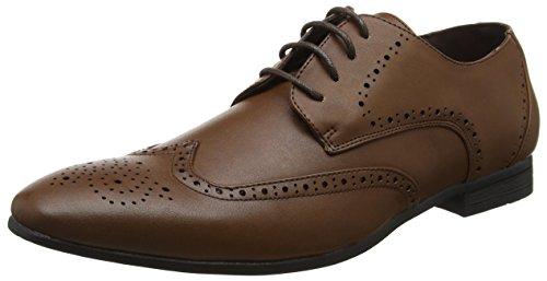 New Look Formal, Zapatos de Cordones Brogue Hombre, Marrón (Mid Brown), 42 EU
