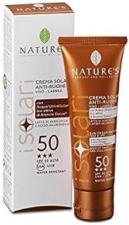 Nature's Sun Cream Anti Age Face & Lips SPF 50, con arancia bioattiva idrolato di frutta e filtro solare microincapsulato,...