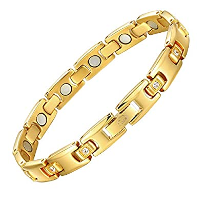 Magnetic Therapy Bracelets for Women Titanium Health Pain Relief for Arthritis Wristband with Adjustable and Carpal Tunne