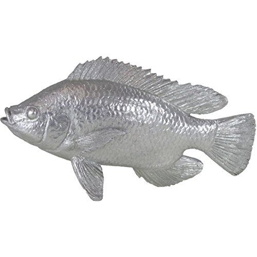 Casablanca Statuina Pesce in Argento Altezza 18cm Lunghezza 34cm