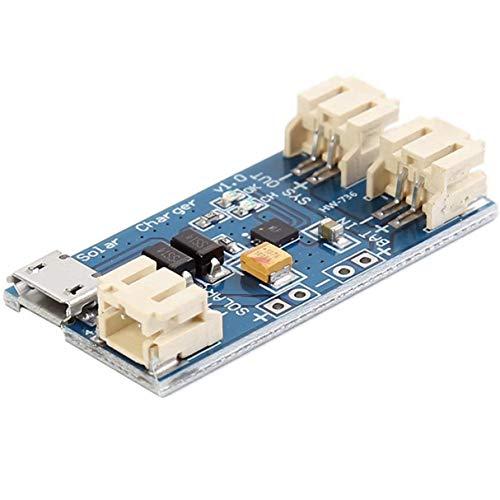 Morninganswer Mini Placa de Carga USB de batería de Litio Solar Cn3065 módulo 500Madc4.4-6V Cargador de indicador de Estado de batería