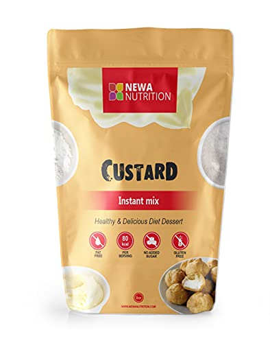 Custard Instant Mix, Custard Powder (Vanilla), Low carb, Gluten Free, Sugar Free - 8 oz. Low Calories 80 gr per serving. NO SUGAR ADDED