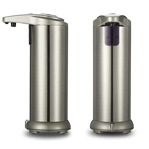 OutTop(TM) Soap Dispenser,Touchless Automatic Soap Dispenser, Infrared Motion Sensor Stainless Steel Dish Liquid Hands-Free Auto Hand Lotion Dispenser 250ml (Silver)