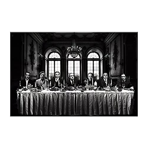 RHWXAX Der letzte Abendmahl - Movie Gangster Collage HD Print Canvas Poster Home Dekorative Wandkunst Malerei 24x32inch Kein Rahmen
