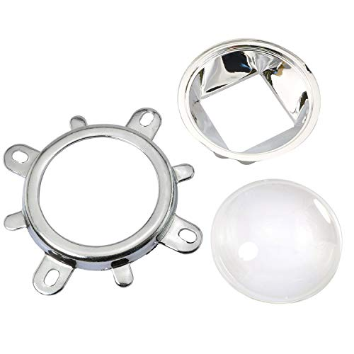 ToToT 1Set 60 Degrees 44mm Lens + 50mm Reflector Collimator Base Housing + Fixed Bracket for 20W-100W LED Light Lamp Lenses LED Reflector Cup Kit