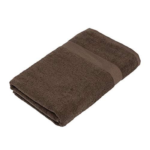 Pureday Handtuch Basic einfarbig - Baumwolle - 50x100 cm - Dunkelbraun
