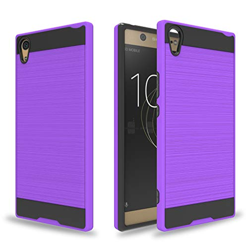 Ayoo: Sony Xperia XA1 Ultra Hülle, Sony Xperia XA1 Ultra Dual Hülle, Sony Xperia XA1 Ultra/Dual Phone Hülles (Release in 2017), gebürstete Textur, Cover Design für Sony Xperia XA1 Ultra-ZS, Violett