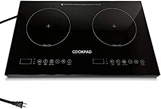 COOKPAD Electric Induction Cooktop with 2 Burner,1800W Double- Induction Stove Top,LED Lights, Child Safety Lock, Sensor Touch Control