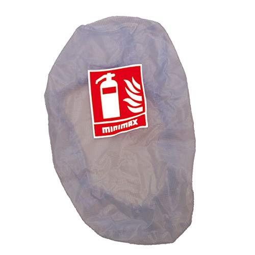 MINIMAX Feuerlöscher Schutzhülle Gitternetzfolie für Feuerlöscher bis 6 kg Inhalt transparent mit Gummizug Bietet Schutz vor Verschmutzungen
