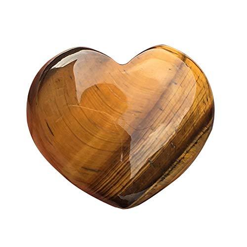 Liebe Herzförmige Edelstein, Natürlich Rosenquarz Herzförmige Kristall Geschnitzt Stein Heilung Liebe Edelstein - Gelb, 15 * 15 * 10mm
