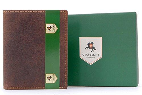 Portafoglio uomo in pelle regalo Visconti - 705 - Olio Marrone Chiaro
