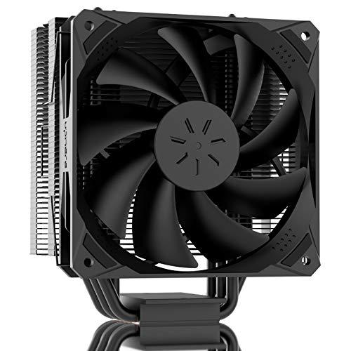 upHere CPU Kühler mit 6 Heatpipes, 120mm PWM Lüfter,Prozessorlüfter für Intel und AMD CPUs schwarz,N1065BK