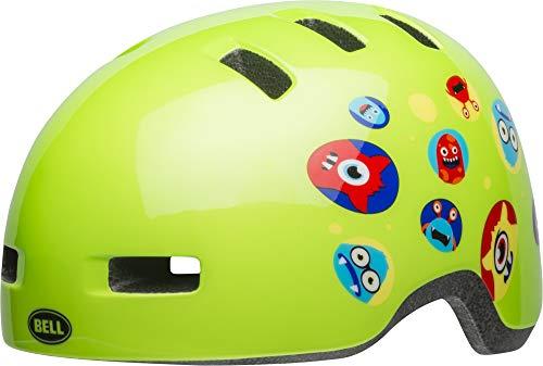 BELL Lil Ripper Casco de Ciclismo, Infantil, Monsters Gloss Green, 47-54 cm