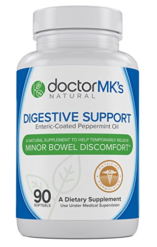 IBS Relief Supplement by Doctor MK's, Compare to IBgard Ingredients, 90 Capsules of Enteric Coated Peppermint Oil, Treatment for Irritable Bowel Syndrome, Digestive Support Formula