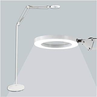 Led Desk Lamp Floor Lamp LED Floor Lamps Magnifying Glass Floor Lamp - Metal Base Reading Magnifier Light with Gooseneck -...