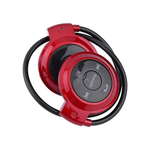 LetCart Auricolare Bluetooth - Auricolare Stereo Universale Senza Fili Bluetooth Sportivo per Auricolare per Samsung iPhone(Rosso)