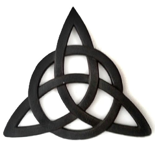 Bellaa 25655 Celtic knot Irish wall decor 12 Inches Black
