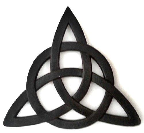 Bellaa 25655 Celtic knot Irish wall decor 12 Inches Black