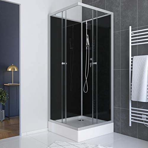Cabine de douche carrée 195x80x80 - Porte coulissante...