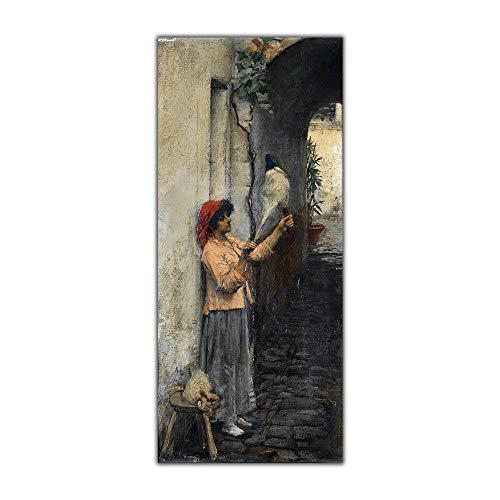 CláSico Mujer Poster Impresiones William Waterhouse Lienzo óLeo Pintura Europeo Estilo Cuadro Abstracto Pared Arte Salon Pared Decoracion 40x80cm No Marco