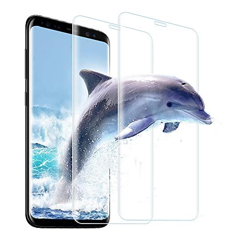 Carantee Panzerglas für Samsung Galaxy S8 [2 Stück], 3D Volle Abdeckung, 9H Härte, Anti-Kratzer, Transparenz, Anti-Bläschen, Einfache Montage, Ultra-Klarheit Displayschutzfolie für Samsung Galaxy S8