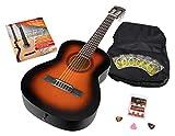 Calida Benita guitarra de concierto Set 1/2 Sunburst con accesorios