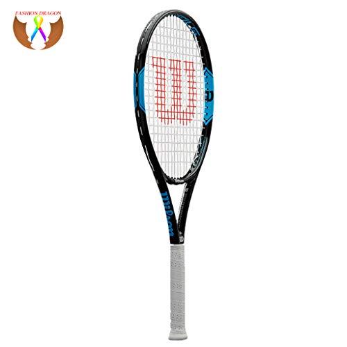 Racchetta da Tennis Racchetta per Principianti Materiale in Lega di Carbonio Racchetta da Tennis per Allenamento Singolo Maschile e Femminile Blue-27inches