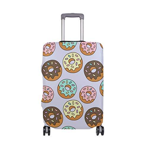 Cubierta de equipaje de viaje con impresión de donut elástico para maleta de equipaje lavable cubre para 45,7-32 pulgadas