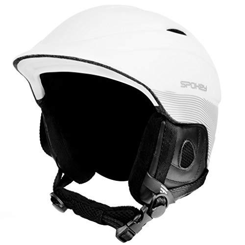 Spokey Casque de Ski avec système de Ventilation - Casque de Snowboard réglable - Tour de tête 54-61 cm, Weiß, L/XL 58-61cm