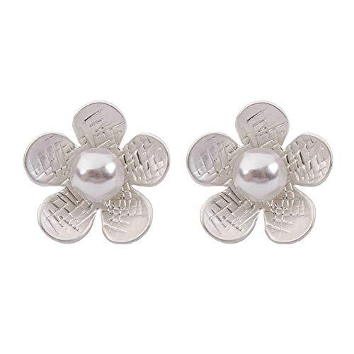 Conjunto de pendientes Pendientes lindos personalizados de la flor de la perla de la flor de la moda salvaje para los regalos del día de tarjeta del día de San Valentín Ocasiones formales casuales