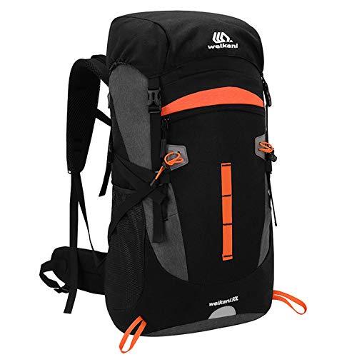 SKYSPER Sac à Dos de Randonnée Homme Femme avec Housse de Pluie 50L Sac à Dos Voyage Imperméable Résistant aux Déchirures Grande Capacité Sac à Dos Trekking pour Alpinisme Sports Camping