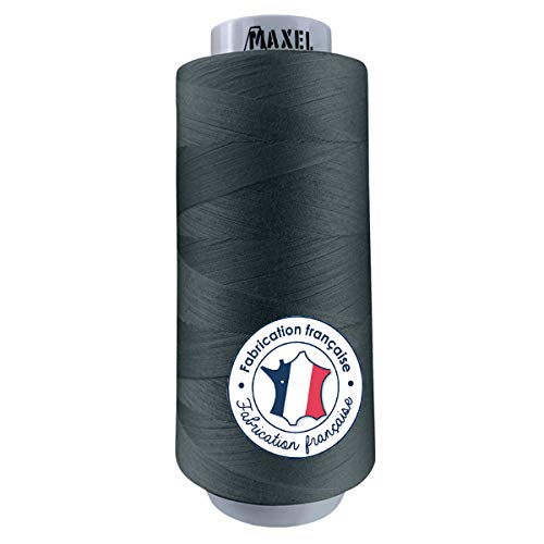 Made in France – Hilo de coser Poliéster GRIS – Bobina para máquina de coser – Certificado ECOGRIFFE y OEKO-TEX® (GRIS)
