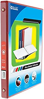 """BZIC 1/2 """"3-Ring View Binder w/ 2 جيوب، للمدرسة أو المنزل أو المكتب (علبة من 12 قطعة)"""